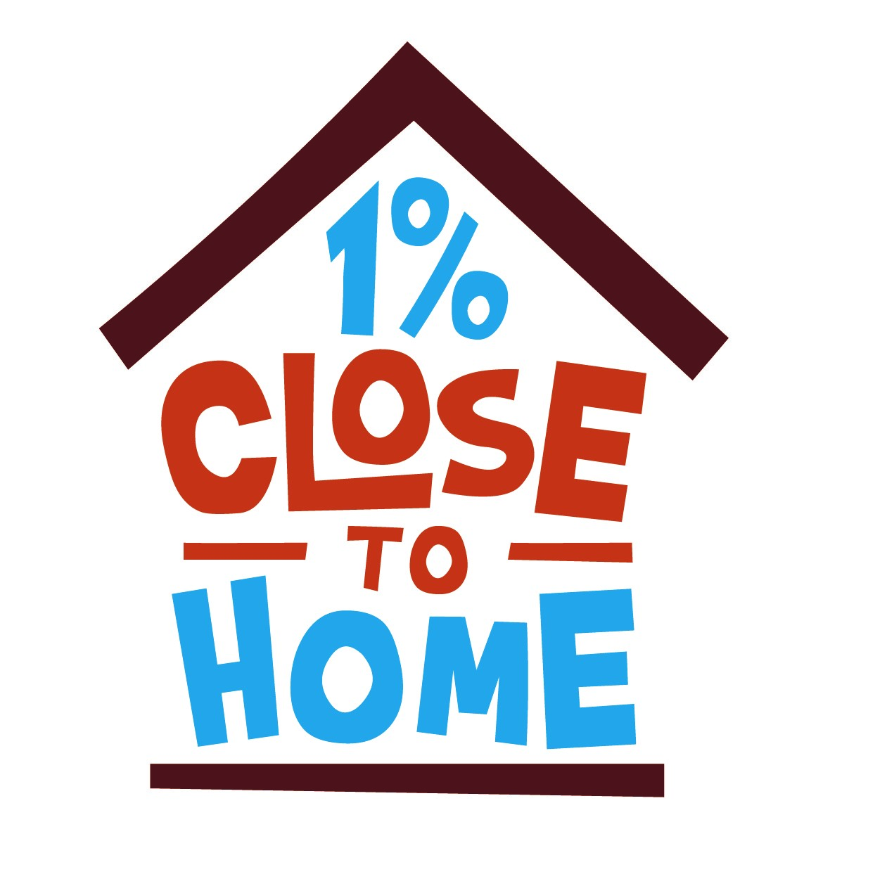 1 percent close to home logo