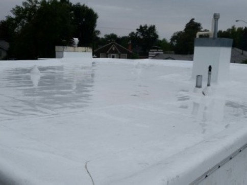 Low slope flat roof roofing choice by rain guard roofing