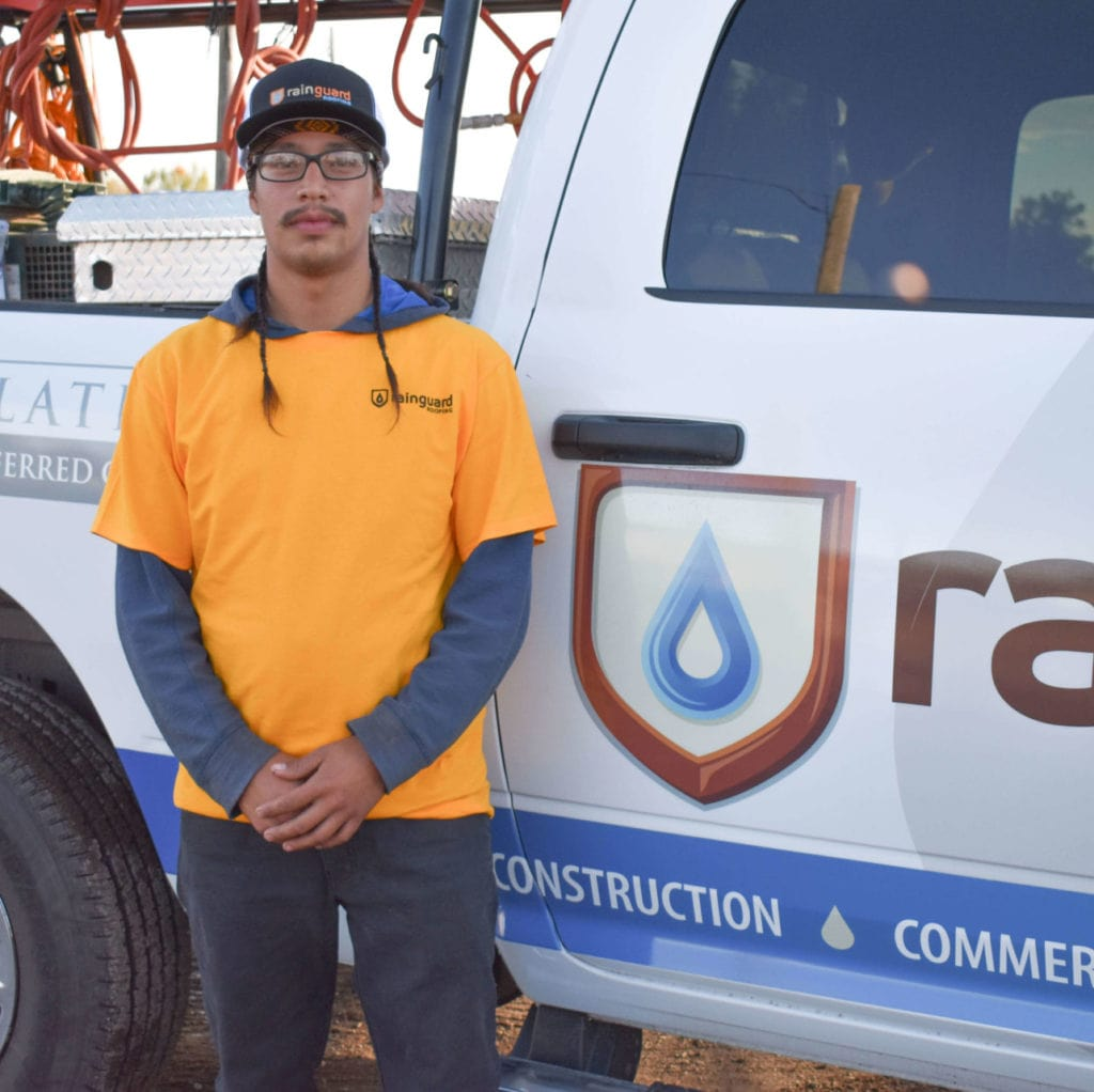 joey martinez of the rain guard roofing team