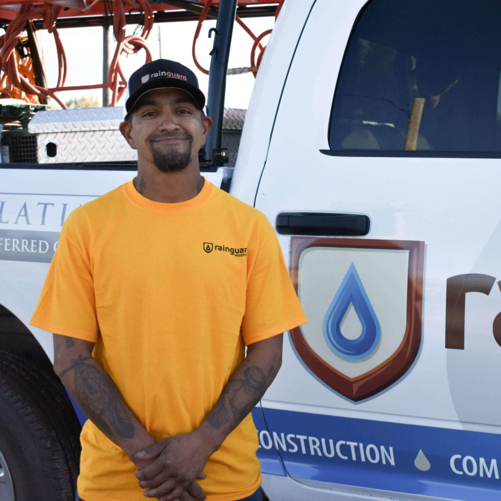 nando contreras of the rain guard roofing team