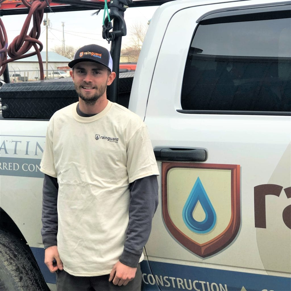 taytay stanton of the rain guard roofing team